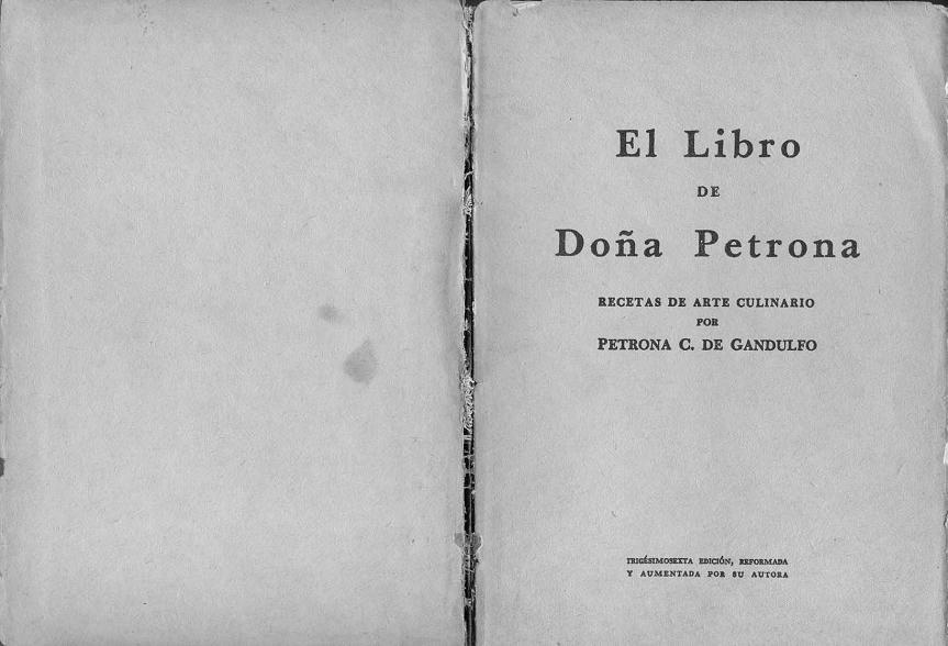 Las recetas de tortas de Doña Petrona