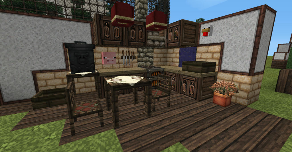how to make a chair in minecraft furniture mod