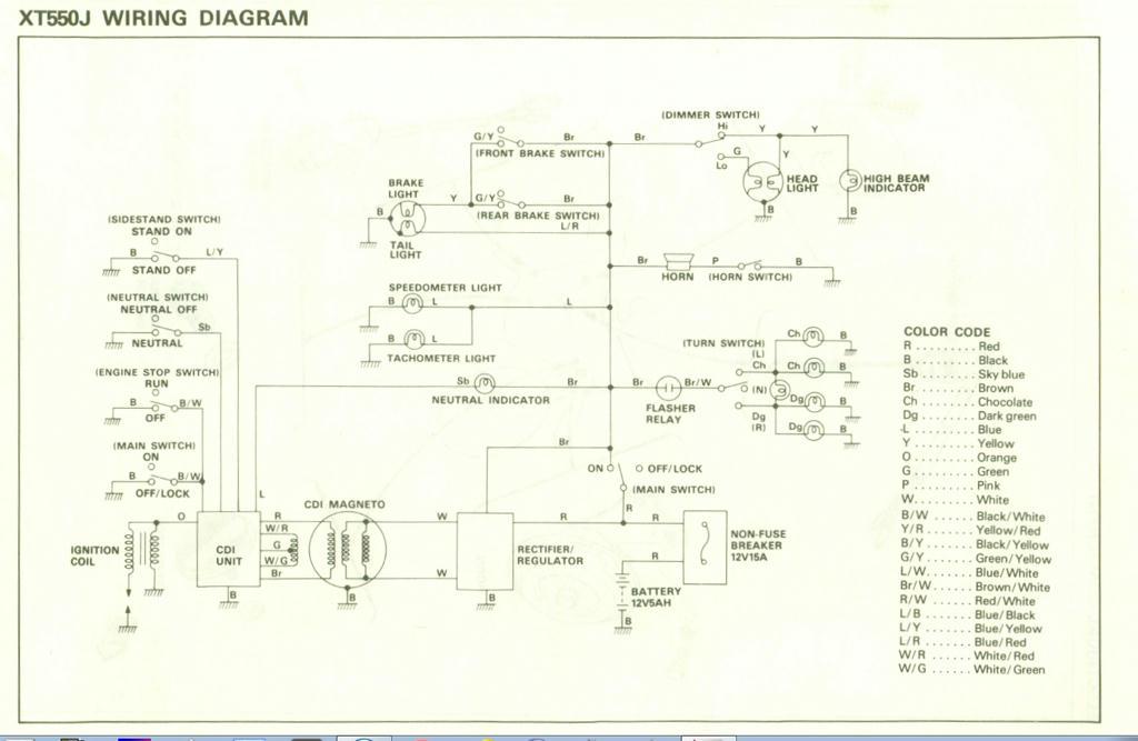 Yamaha Tt600 Wiring Diagram : Yamaha virago wiring diagram