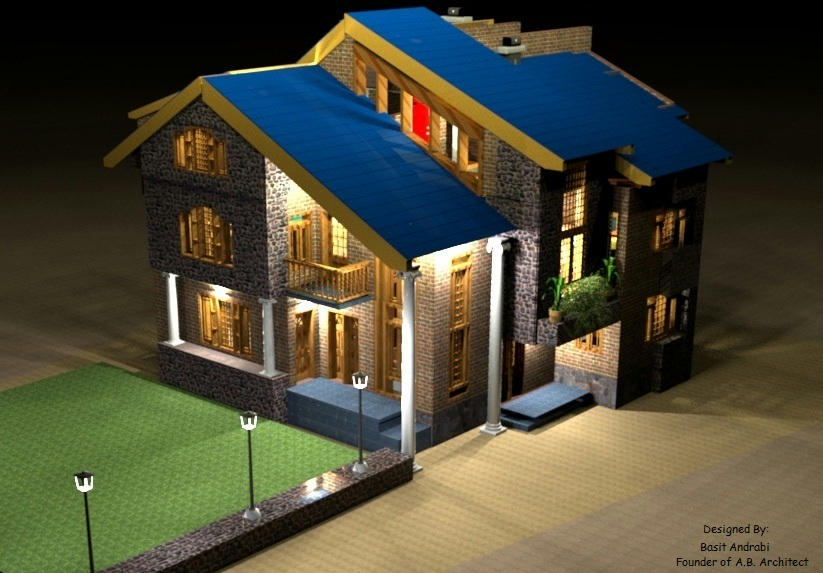 Designs of kashmiri houses modern house for Home designs kashmir