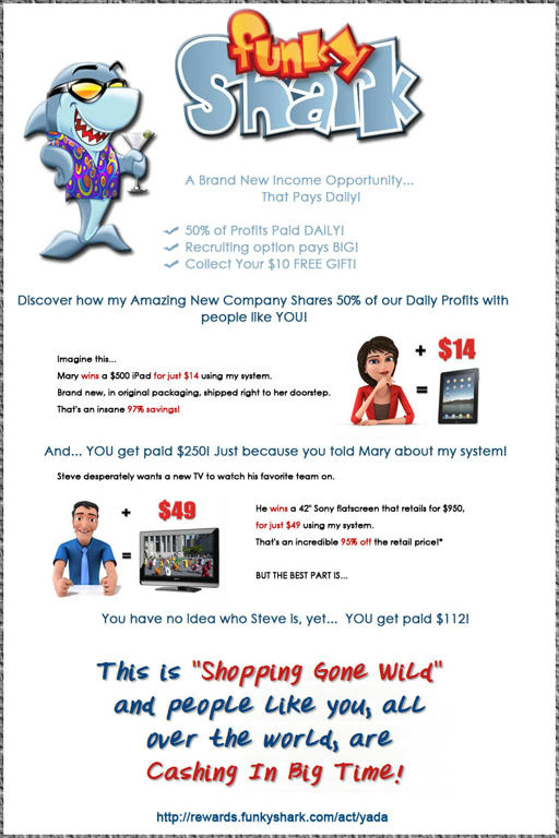 Passive Income Opportunity with Funky Shark