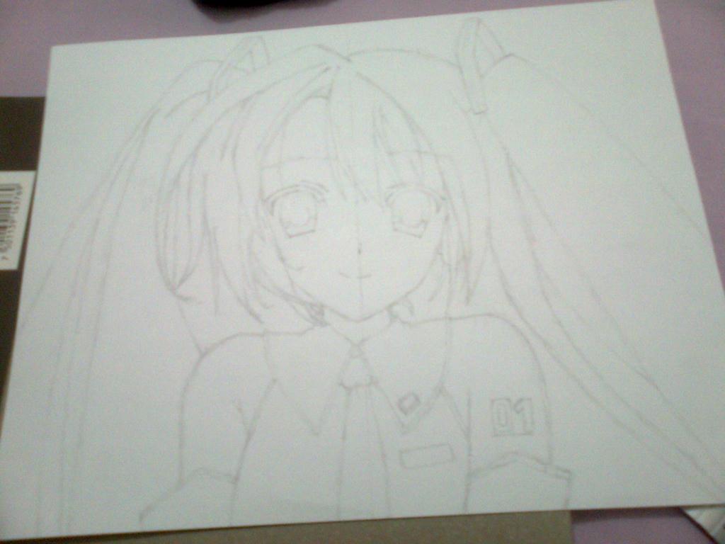 Dibujo de Hatsune miku