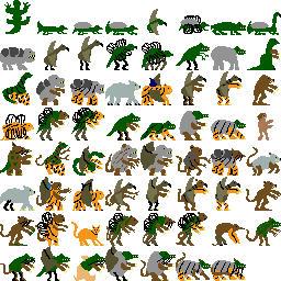 62 Evolved Animals