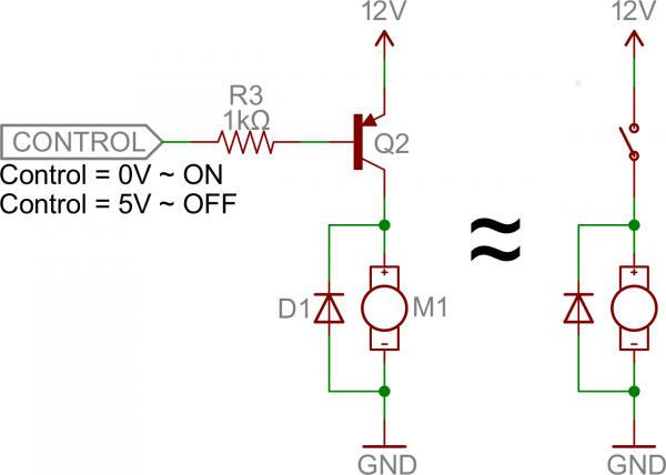 Mạch điều khiển động cơ dùng transistor