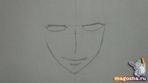 Рисуем поэтапно Цубаки слугу-вампира