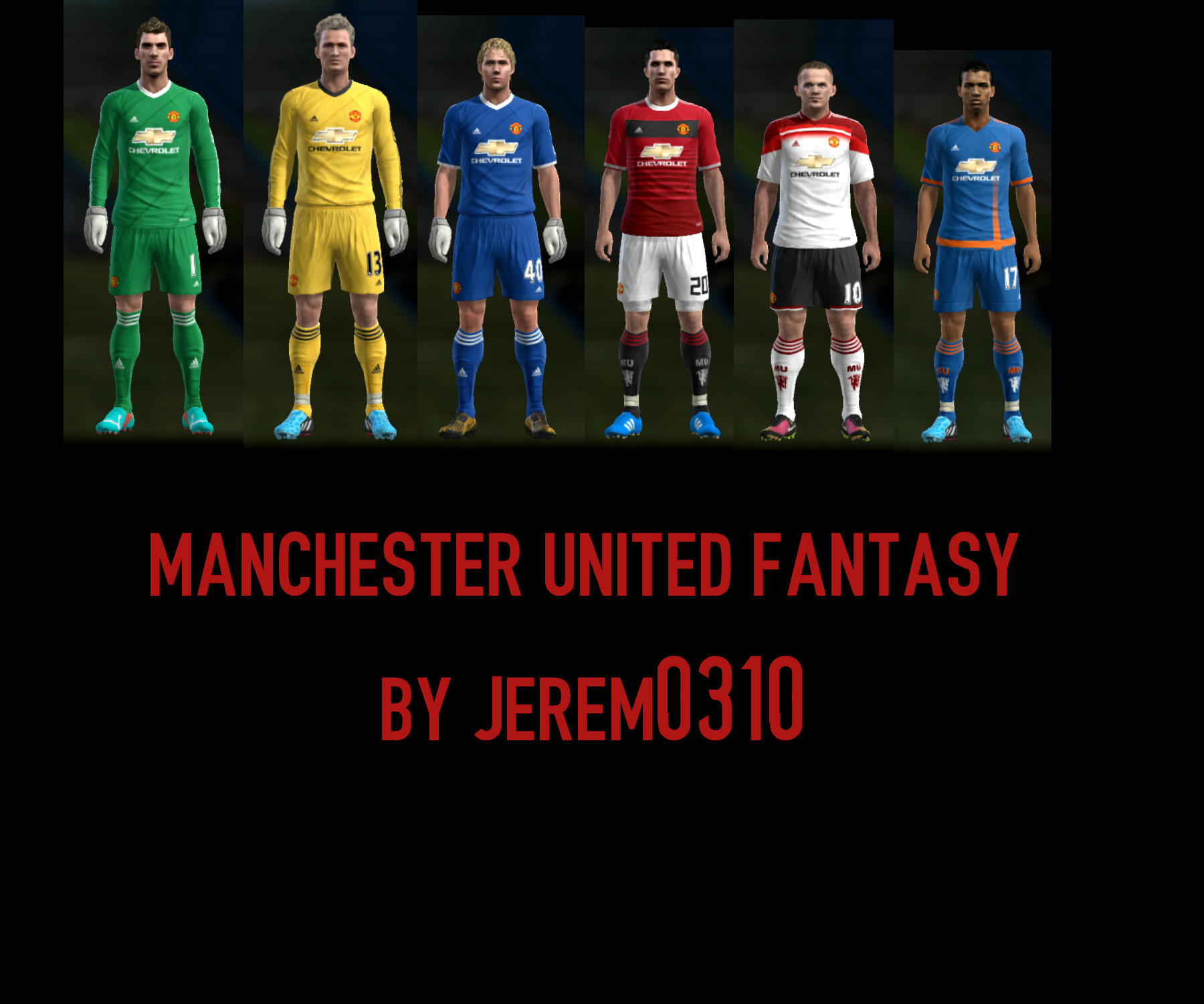 PES 2013 Manchester United Fantasy Kits by JEREM0310