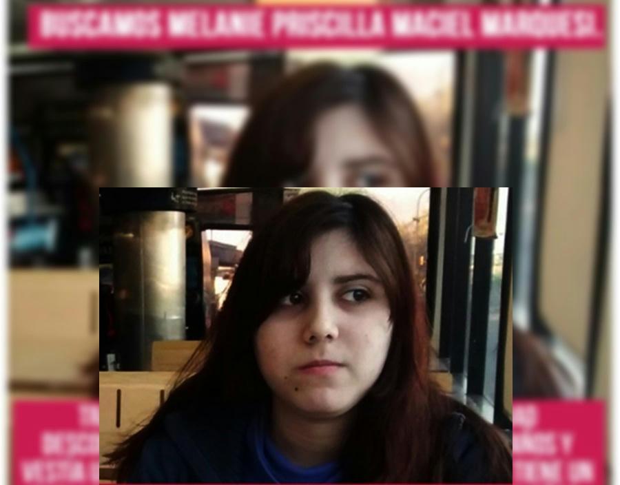 En Bogotá apareció sana y salva Melanie, la chica que desapareció en Villa Celina