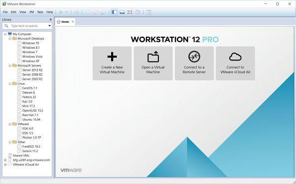 VMware Workstation Pro 12.1.1 Key Bản Quyền Tạo máy ảo cho Window