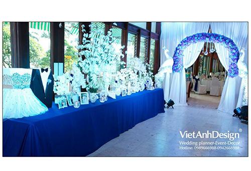 Với gói quà tặng 120 triệu đồng, VietAnh Design sẽ thiết kế và trang trí toàn bộ tiệc cưới