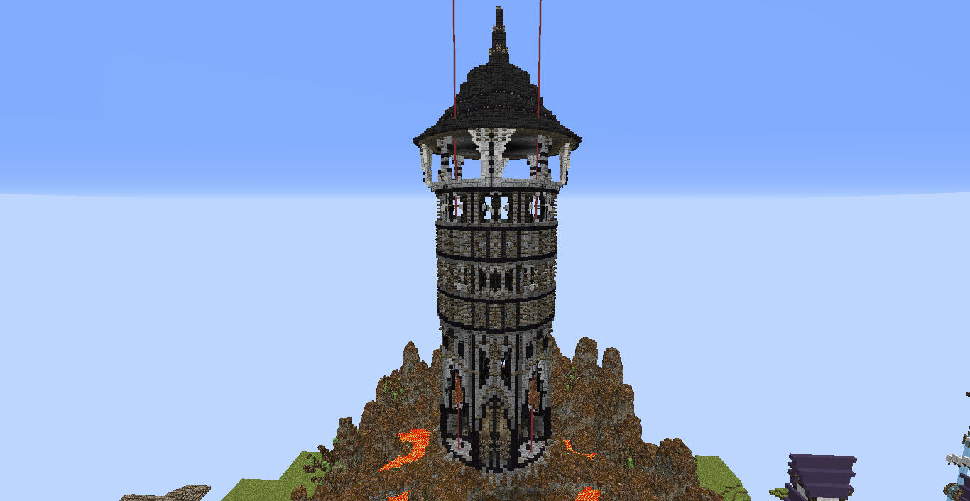how to build a castle tower in minecraft