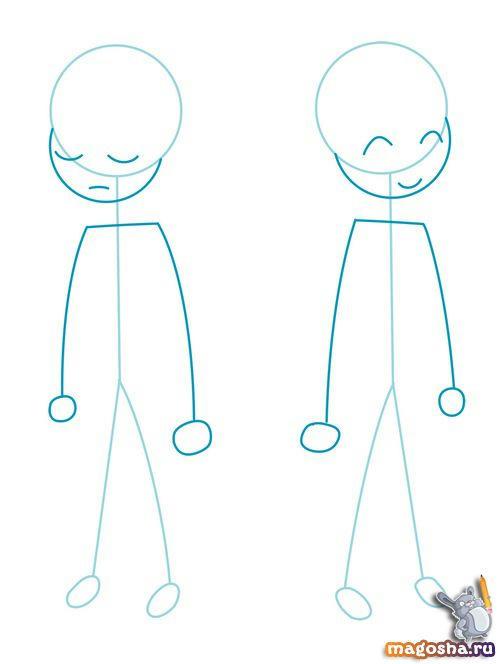 Как научиться рисовать Frisk and Chara из Undertale