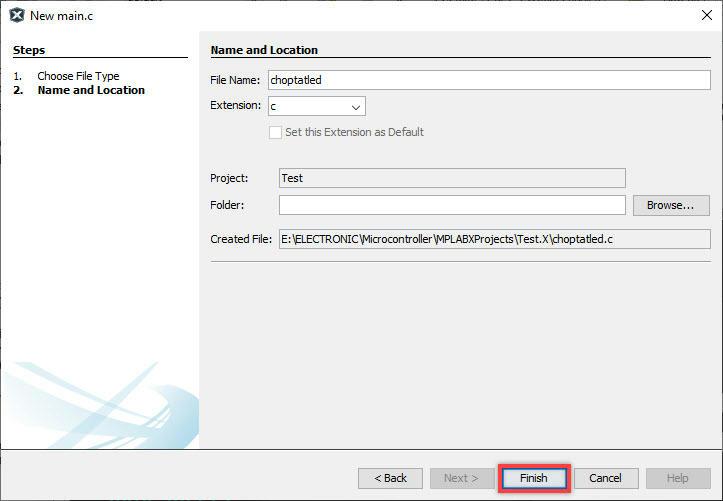 Tên và thư mục chứa file chương trình