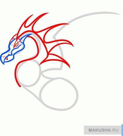 Рисуем поэтапно дракона для детей
