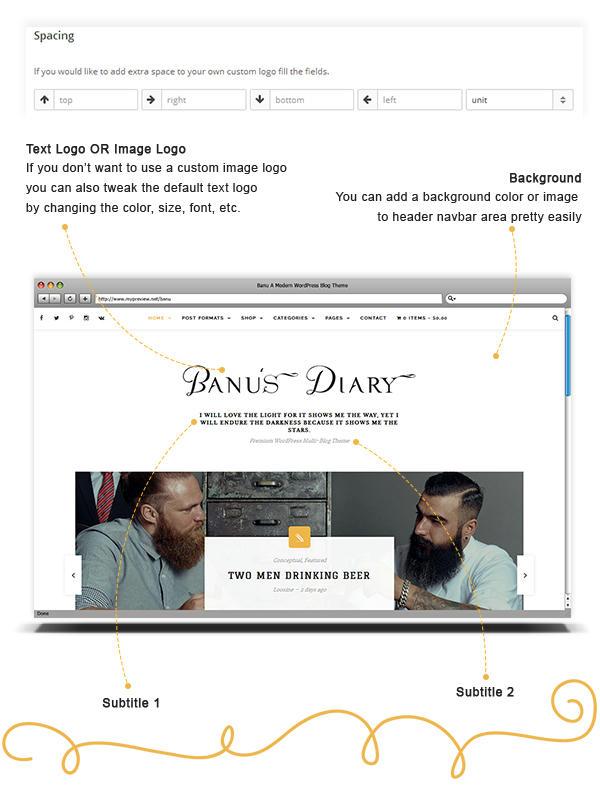 Banu WordPress Theme - Custom Header Options