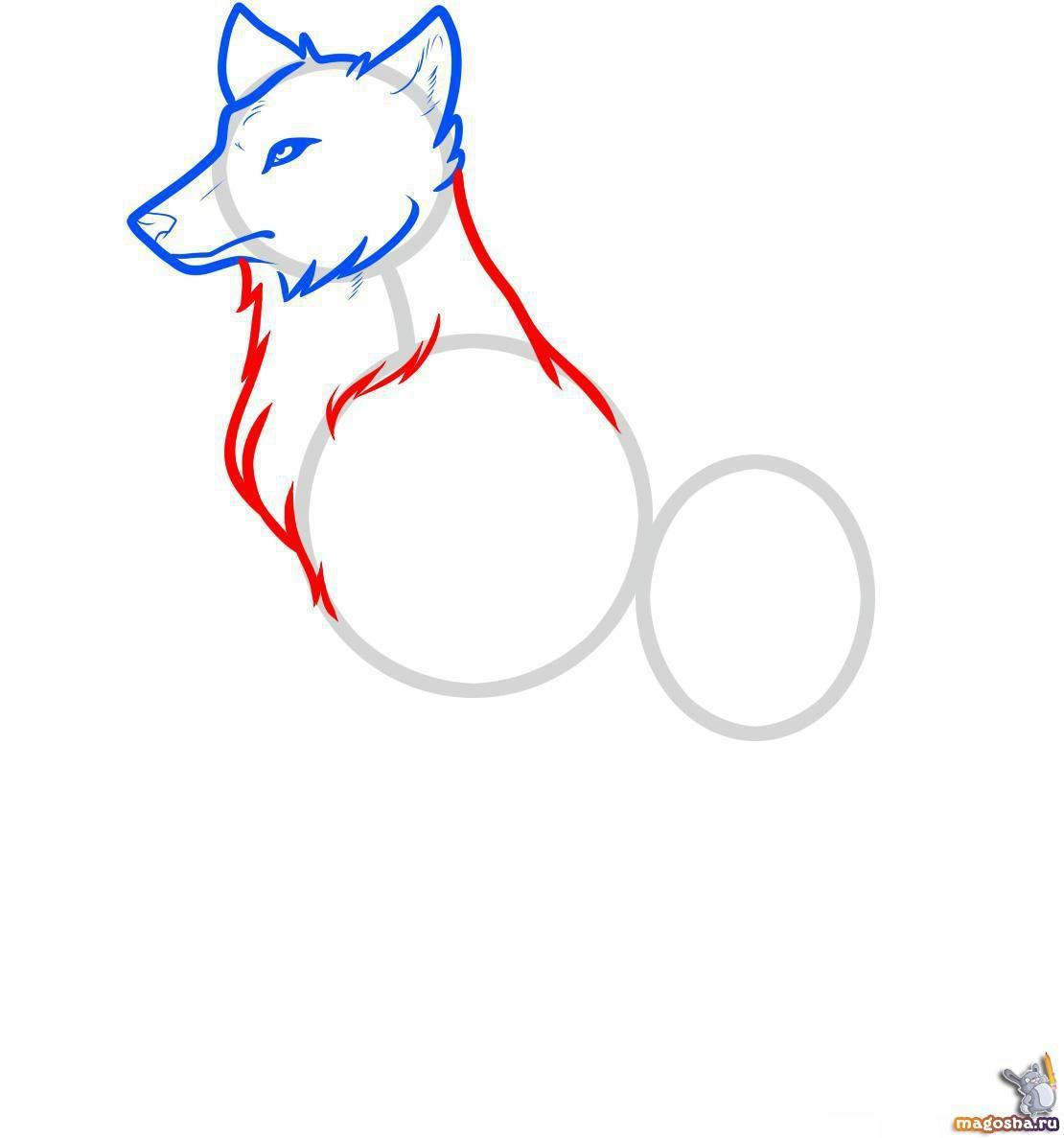 Картинки волков карандашом для девочек 7 лет