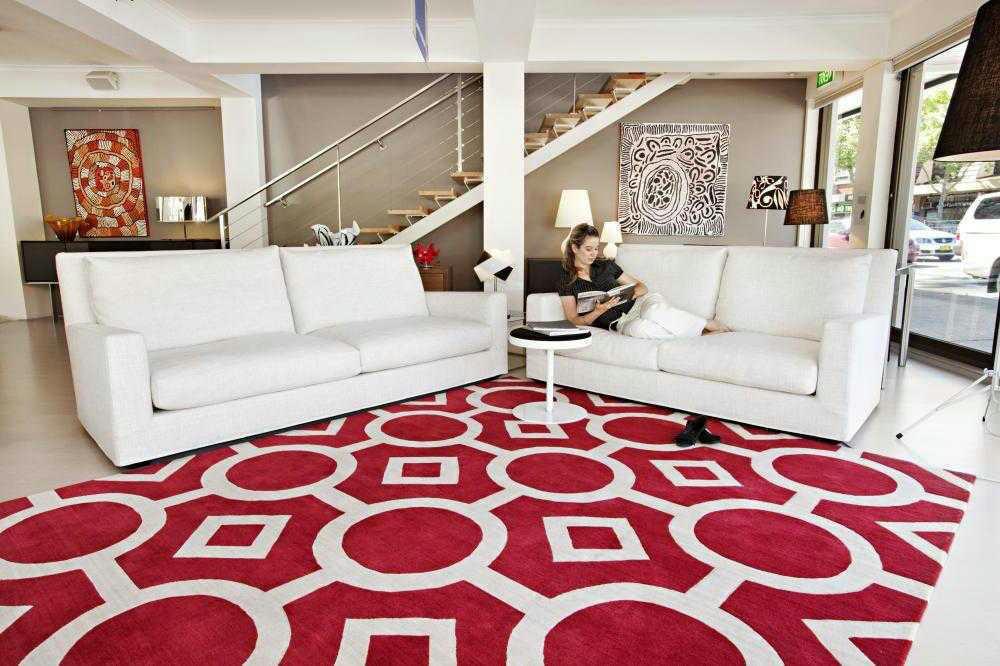 contoh karpet ruang tamu minimalis creo house