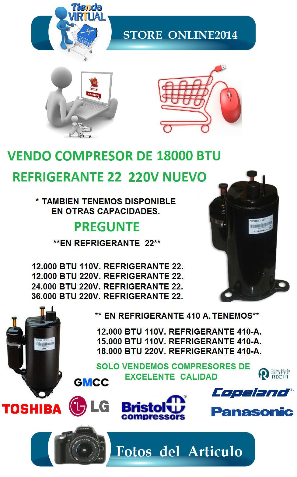 Compresor de aire acondicionados de btu 220v nuevo - Compresor de aire precio ...