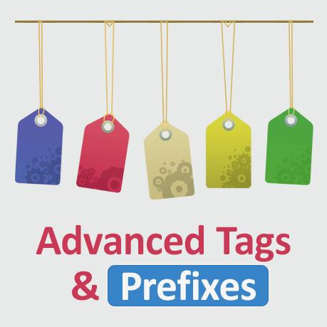 برنامه برچسب و پیشوند پیشرفته Advanced Tags & Prefixes