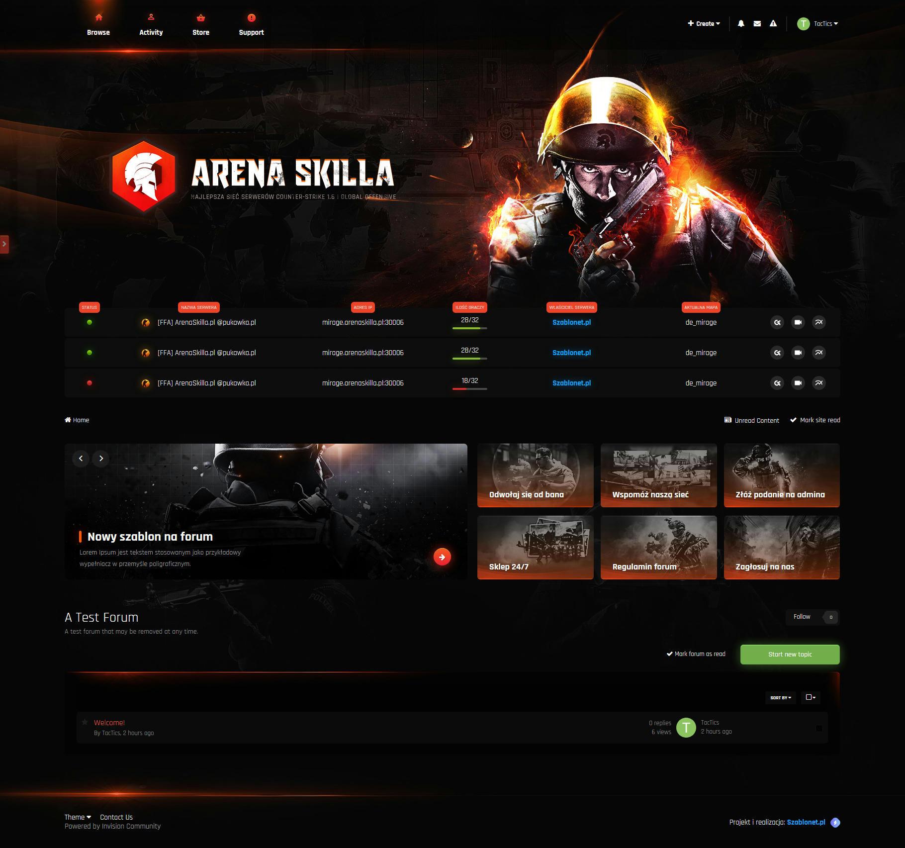 قالب Arena Skilla