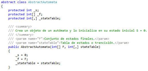 Código de AbstractAutomata