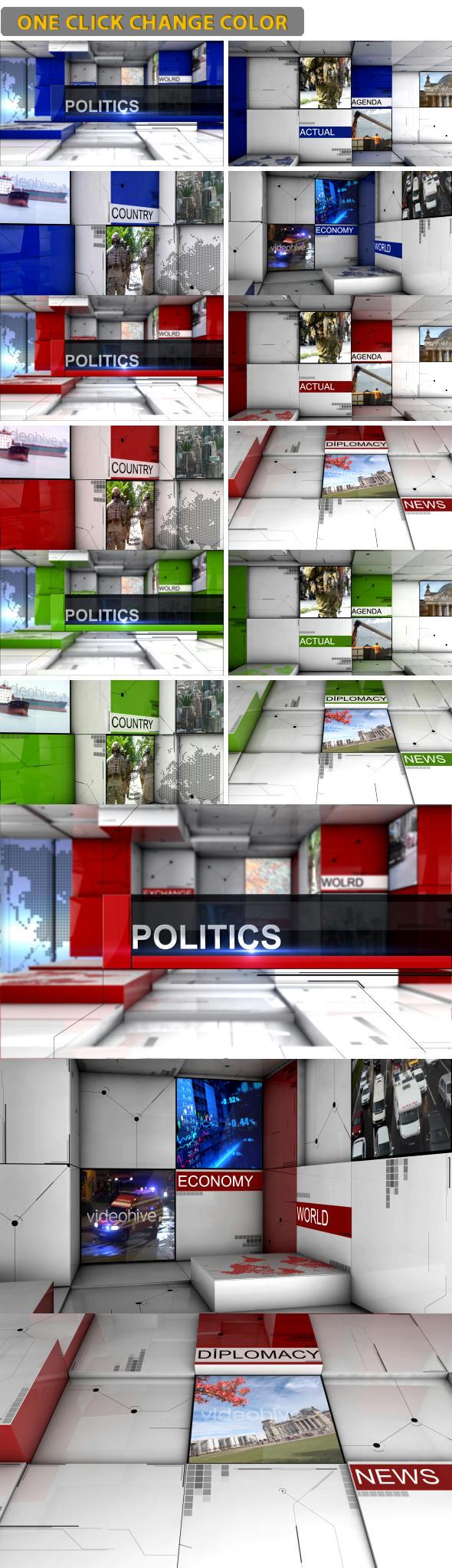 پروژه افتر افکت Political Events ( رایگان )