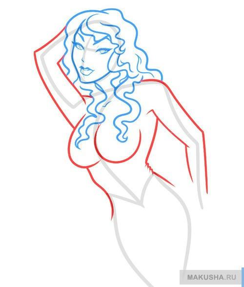 Как нарисовать девушку гота