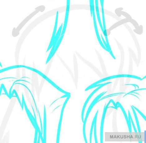 Рисуем поэтапно аниме волосы новичку