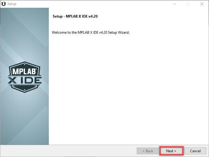 Giao diện cài đặt MPLAB X IDE