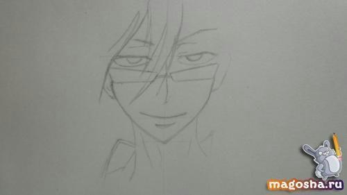Как нарисовать Цубаки слугу-вампира