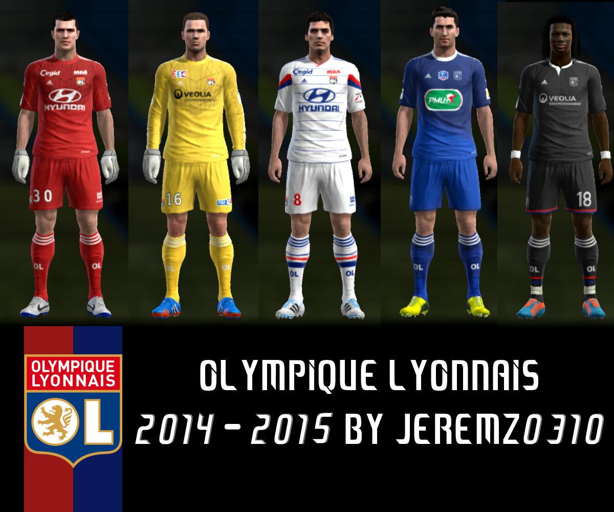 PES 2013 Olympique Lyonnais 2014-2015 + Euro Kits by JEREMZ0310
