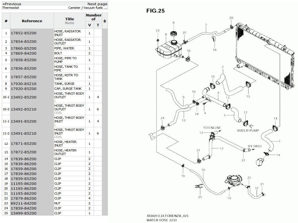 Suzuki forenza cooling system diagram auto