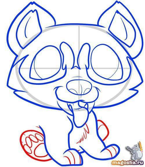 Рисунок щенка хаски карандашом