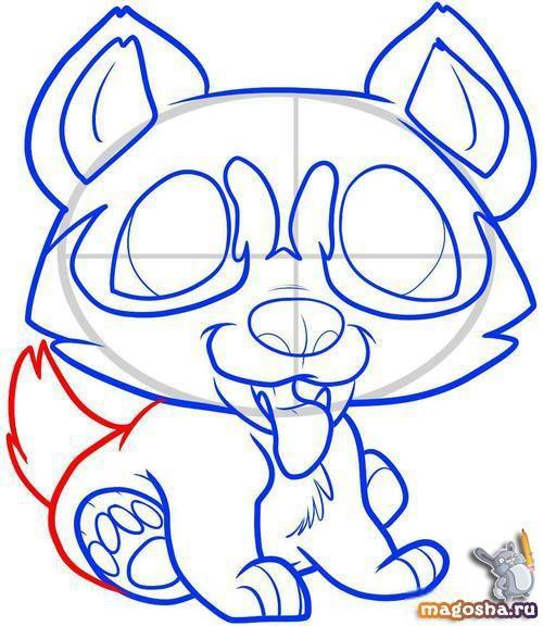 Рисунки карандашом щенка хаски