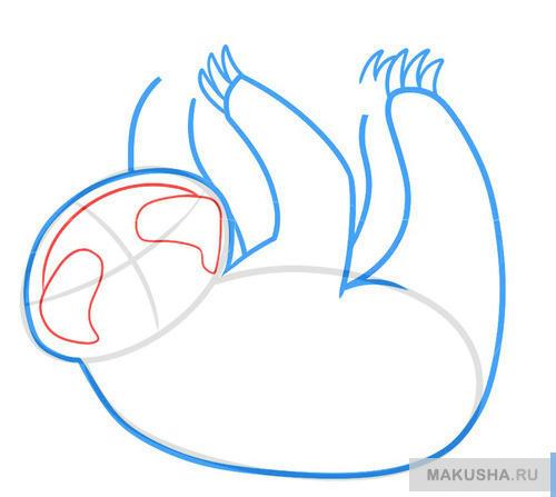 Как нарисовать ленивца для детей