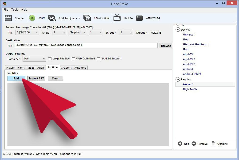 Cómo Pegar Subtítulos SSA a Video MP4 Xfv728b018m884azg