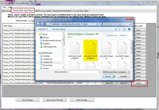 [Apprenti] TS4 Mesh Tools : Export et Import de fichier pour la modification de mesh 4r69xfp973ykri1zg