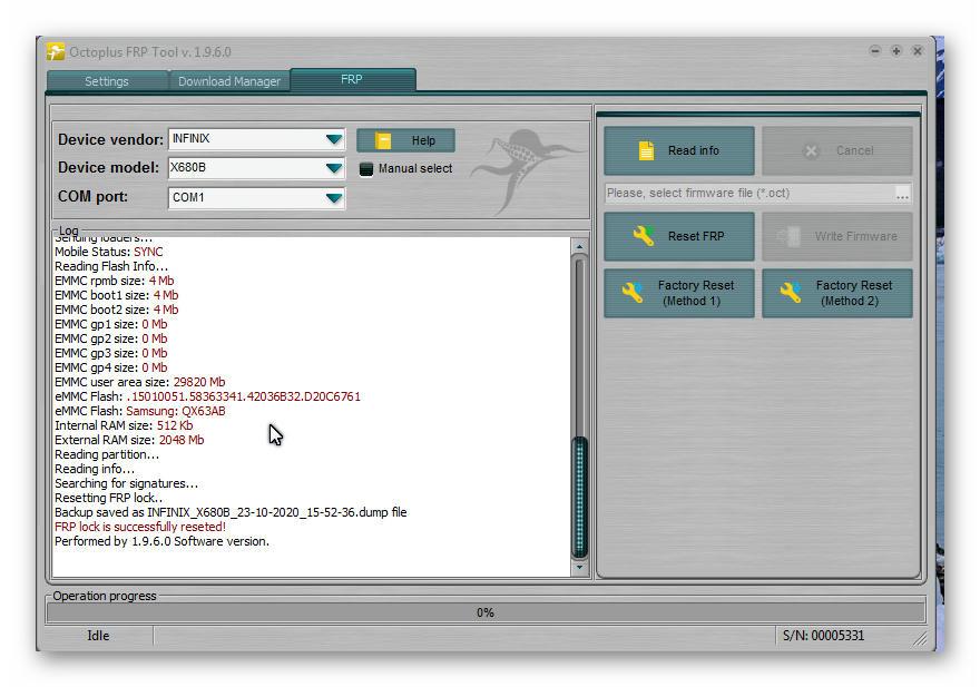 ازالة قفل FRP لهاتف Infinix Hot 9 Play X680