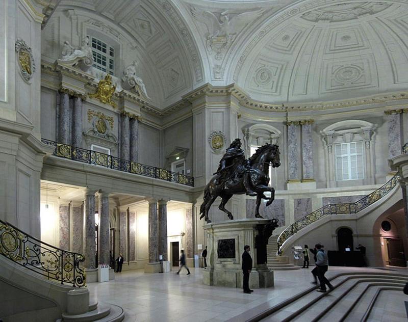 Bode-Museum, Halle mit Reiterstandbild des Grossen Kurfürsten von Andreas Schlüter (glavanoplastische Kopie, angefertigt 1904 von der WMF)