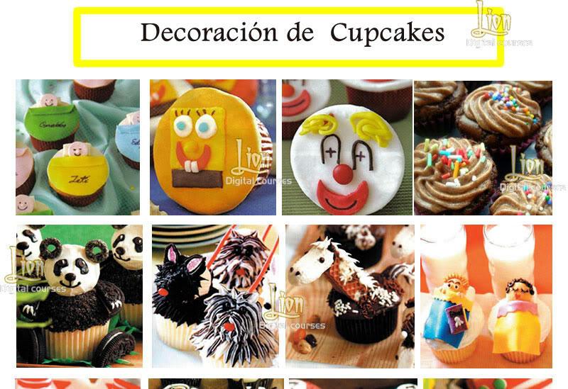 Manual de decoraci n de cupcakes ponquesito recetas y mas - Decoracion manau sl ...