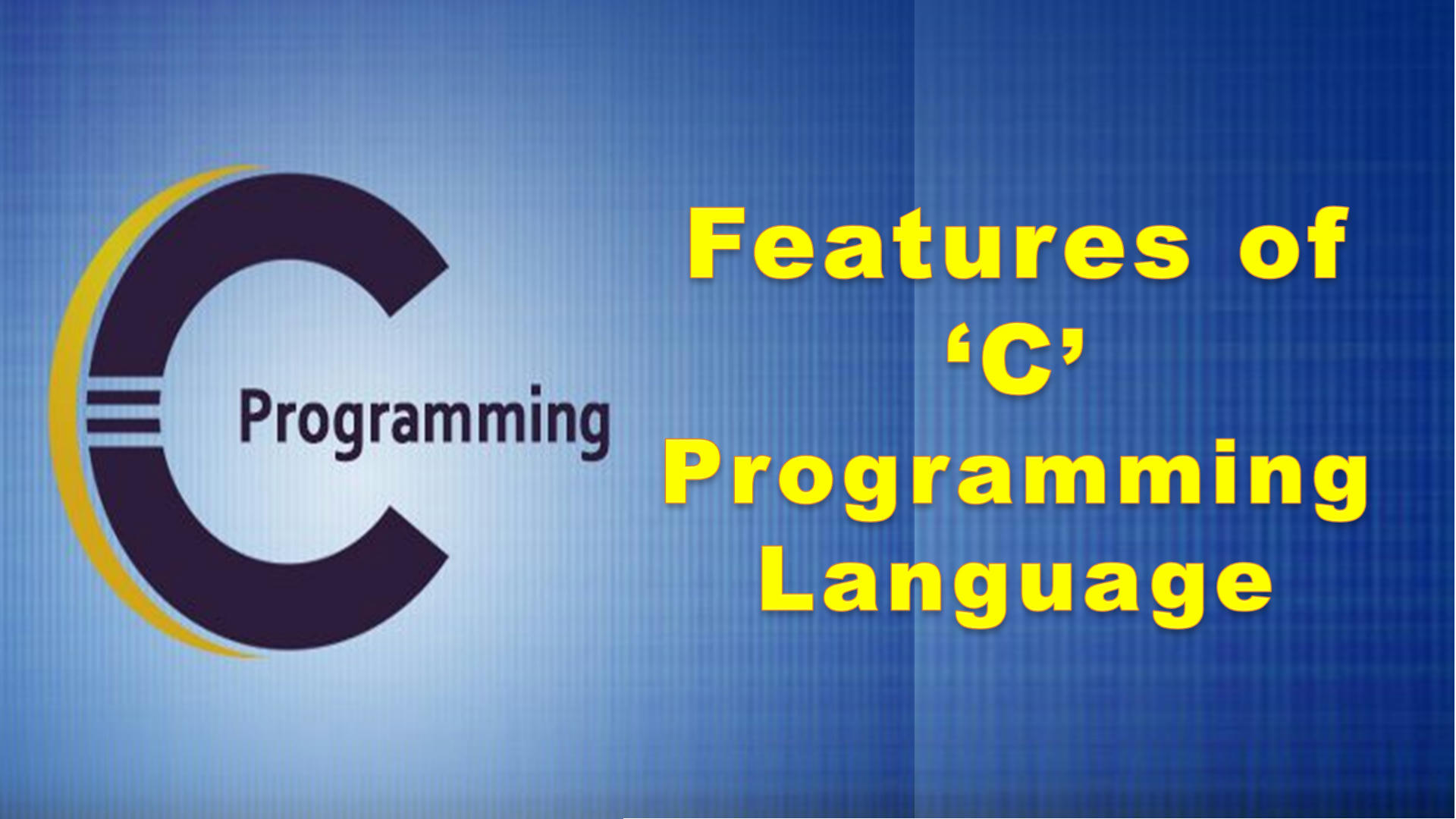 Features of C Programming Language