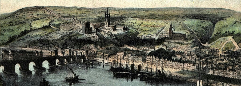 Newcastle quayside in 1600
