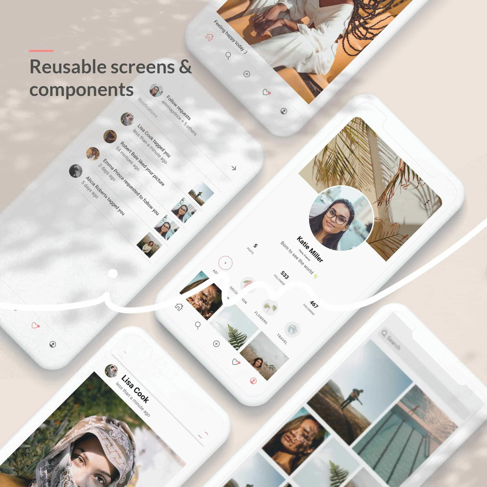 InstaMe - iOS & Android Social Platform Theme - 4