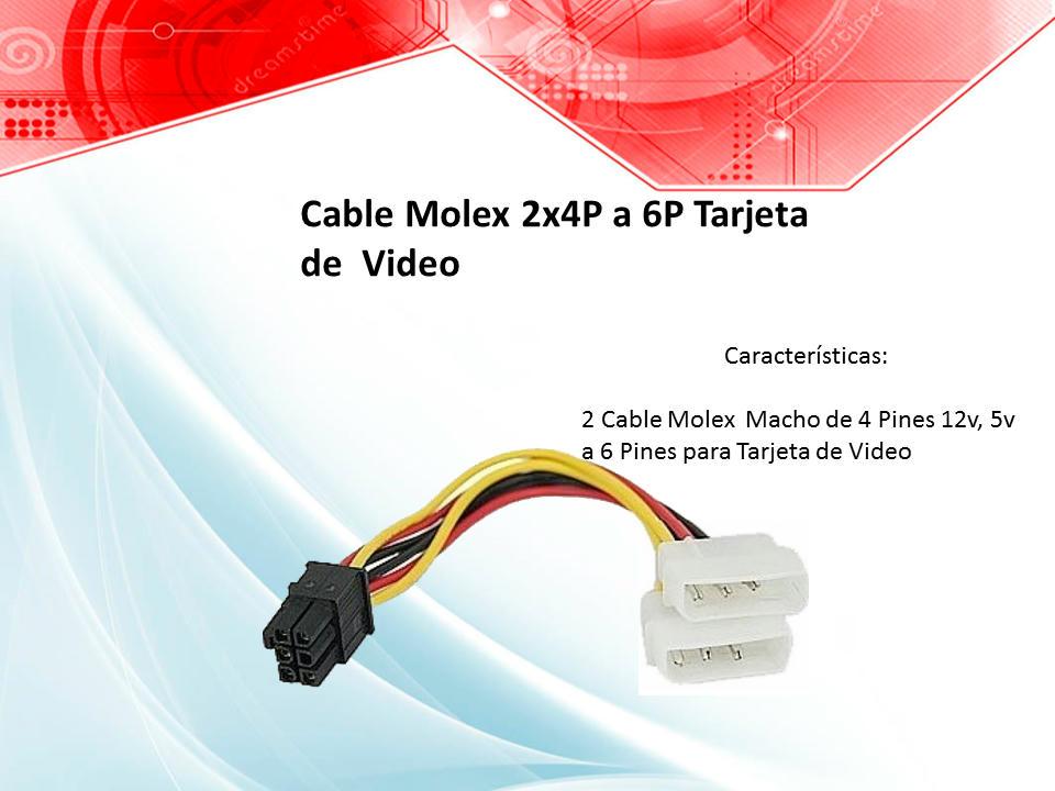 Cable Molex 2x4P a 6P Tarjeta de Video