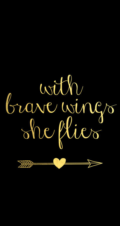 With-Brave-Wings-Black-Iphone- Black Gold Iphone Wallpaper