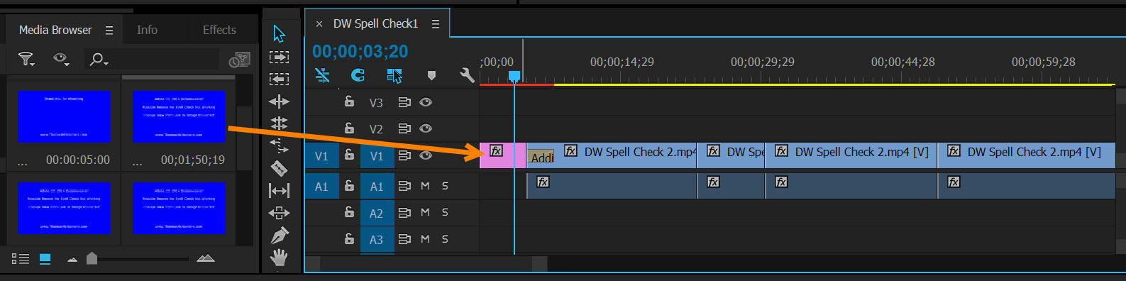 how to change video timeline premire