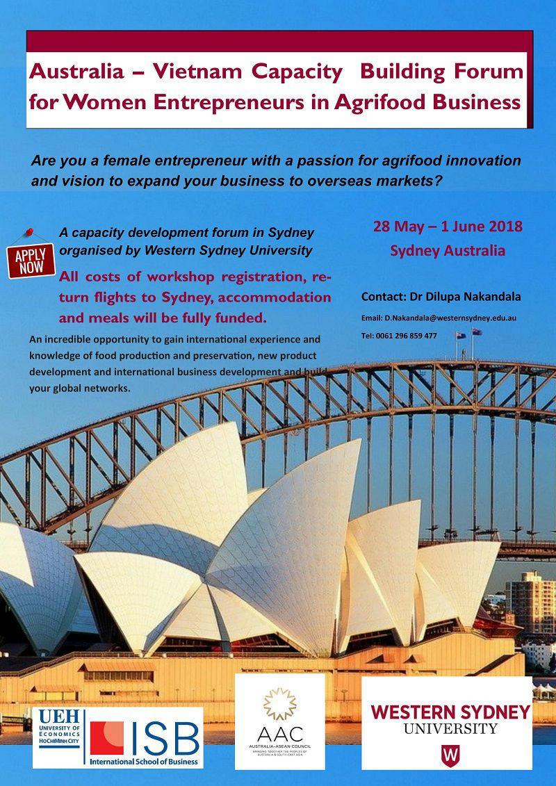 Australia – Vietnam Capacity Building Forum for Women Entrepreneurs in Agrifood Business