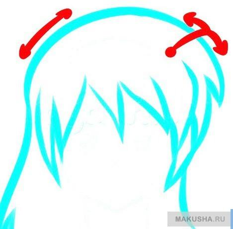 Как рисовать аниме волосы новичку