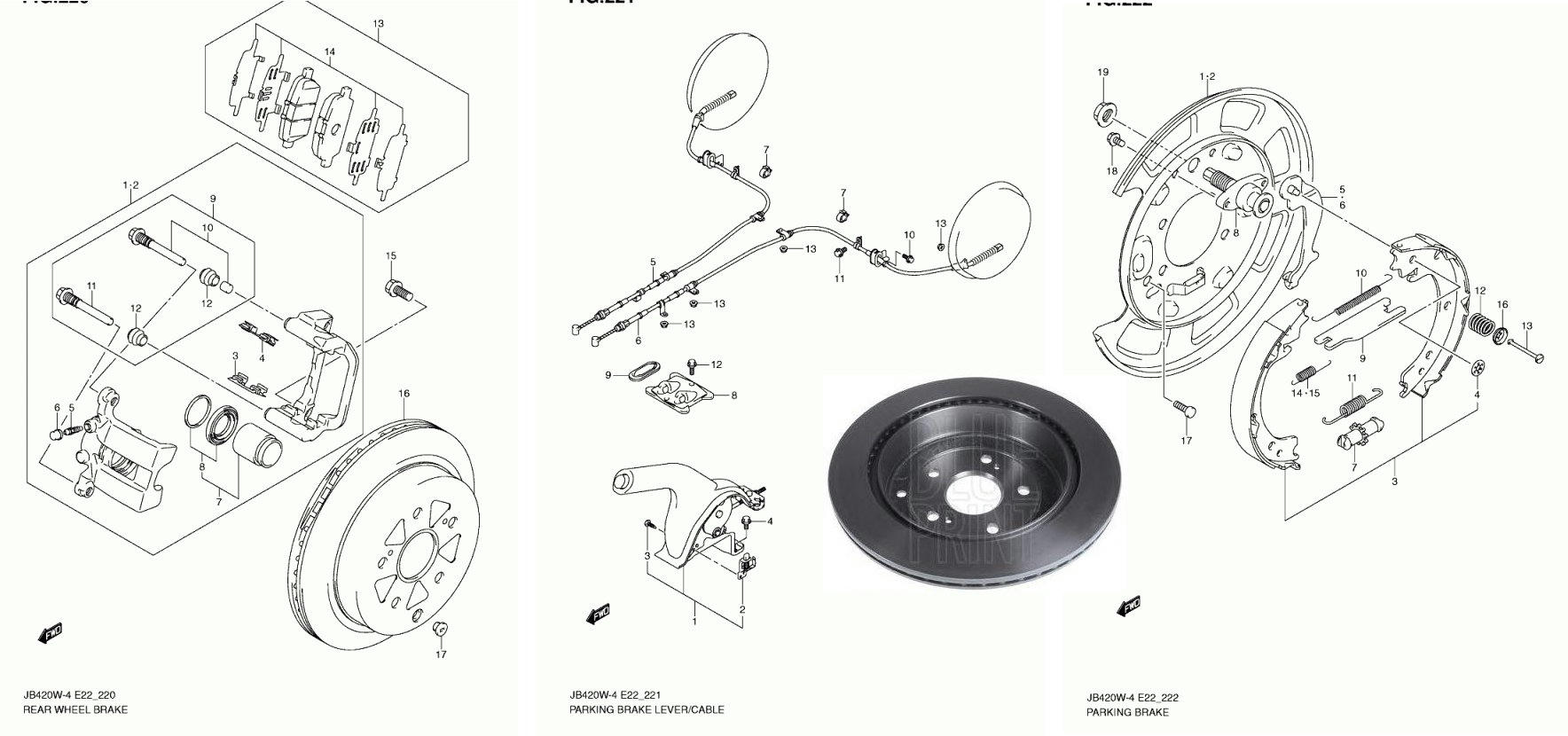suzuki xl7 rear brake diagram