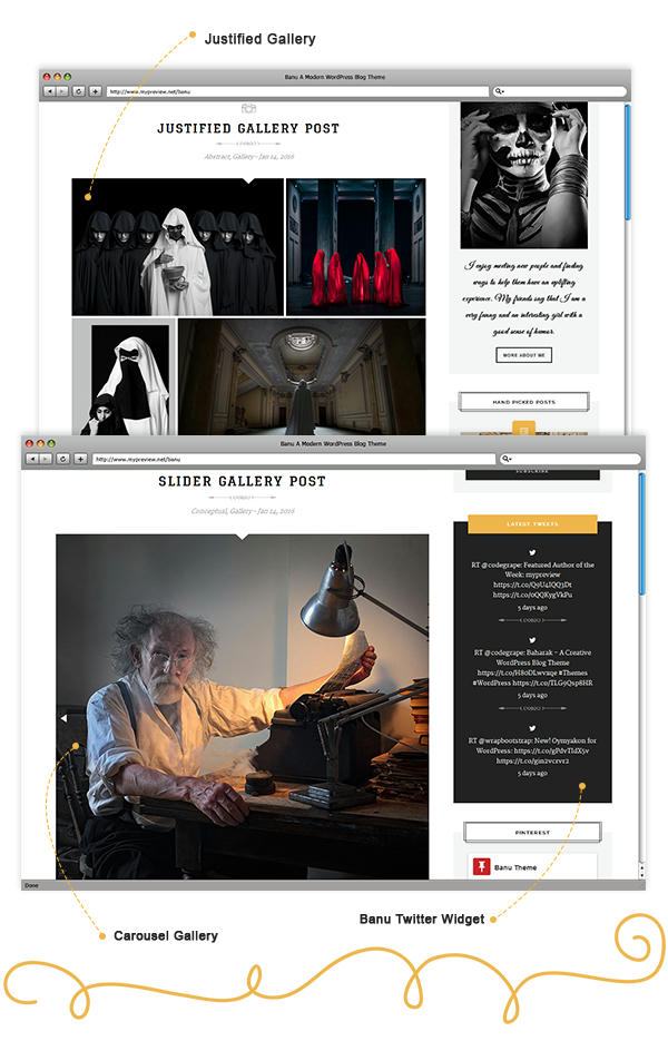 Banu WordPress Theme - Gallery Post Format