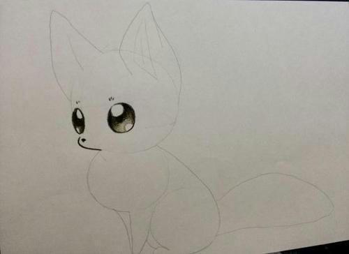 Рисуем поэтапно аниме лисичку цветными карандашами